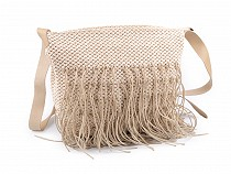 Macrame Handbag with Fringes