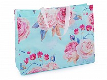 Large Shopping Tote with Roses 32x42 cm