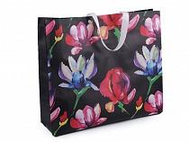 Einkaufstasche mit Blumen 48x41 cm groß waschbar