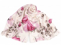 Satin Scarf Roses 90x180 cm