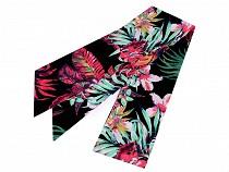 Haartuch / Halstuch mit tropischem Muster
