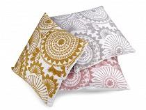 Embroidered Mandala Pillowcase / Cushion Cover 45x45 cm
