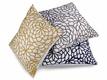 Embroidered Flower Pillowcase / Cushion Cover 45x45 cm