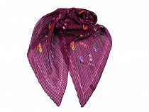 Pleated Scarf with Flowers