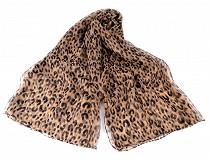 Kendő / leopárdo mintás mű selyem sál 135x185 cm