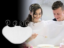 Satin Wedding Bib with Lace, for DIY finish
