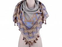 Šátek se střapci 105x105 cm
