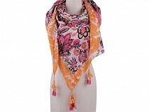 Šátek se střapci 130x130 cm