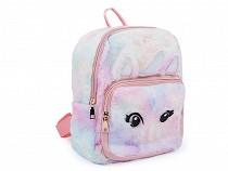 Dievčenský kožušinový batoh jednorožec 24x30 cm