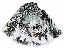 Chusta / szal 90x180 cm liście i paproć