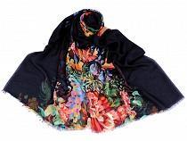 Chusta / szal 90x180 cm kwiaty