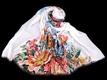 Tuch / Schal Folklore Blüten 90x180cm