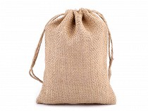 Jute Drawstring Bag 14x18 cm