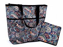Folding Shopping Tote with Zipper 38x44 cm