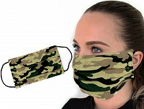 Cotton Single-Layer Face Mask - Elephant, Chevron, Camouflage, Polka Dot