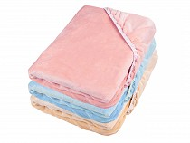 Fitted Bed Sheet Minky Plush 90x200 cm