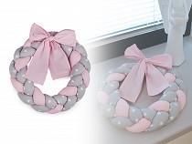 Braided Cotton Fabric Wreath