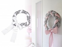 Braided Cotton Fabric Wreath