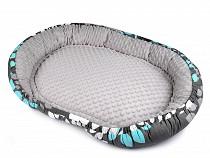 Hundebett / Haustierbett mit Antirutsch-Stoff 50x75 cm