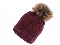 Ladies Winter Hat with Pom Pom