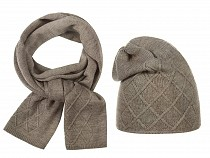 Ladies Winter Hat & Matching Shawl Set