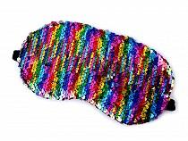 Mască de dormit cu paiete reversibile, 10x19 cm
