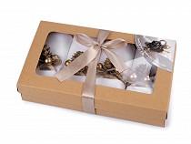 Vánoční sada - ubrousky a kroužky na ubrousky