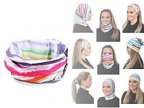Chustka wielofunkcyjna elastyczna, bezszwowa kolorowa