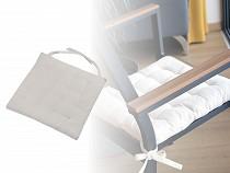 Podsedák na stoličku z recyklovanej bavlny 40x40 cm