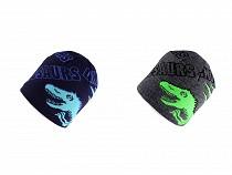 Chlapecká zimní čepice dinosaurus