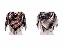 Velký teplý šátek / pléd s třásněmi 110x110 cm