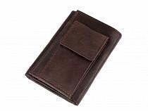Pánska peňaženka s kľúčenkou, kožená, malá