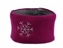 Damen Winter Stirnband mit Steinchen Schneeflocke