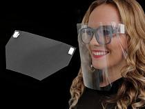 Gesichtsschutz / Gesichtsschild / Schutzvisier aus Kunsstoff für Brille