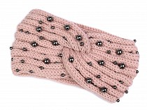 Women's Winter Headband with Pearls