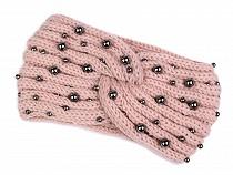 Banderolă tricotată cu perle