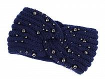 Damen Winter Stirnband mit Perlen