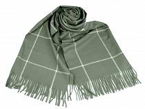 Winter Shawl with Fringe, 67x185 cm