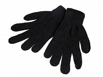 Women's plain knitted work gloves
