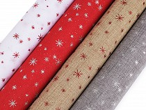 Christmas Jute Imitation / Table Runner Fabric, width 48 cm Stars