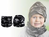 Komplet czapka i szalik / komin moro