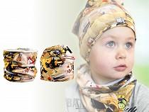 Komplet chłopięcy czapka i szalik / komin