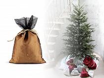 Vianočné darčekové vrecúško 19x27 cm tyl s hviezdami