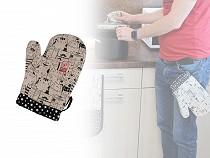 Kuchynská chňapka / rukavica s magnetom