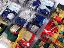 Kreatywny mix świąteczny - koronki, taśmy, wstążki
