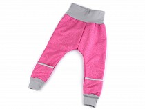 Winter softshell pants for toddlers with a smart pocket