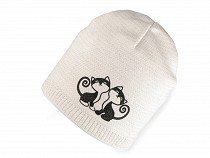 Girl's hat with lurex cat