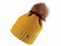 Women's / girls' winter hat with pompom