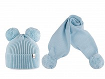 Winter Set Hat and Shawl for Kids