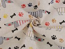 Decorative Fabric Loneta, Dog
